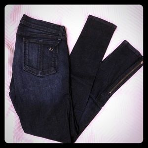 Rag & Bone Stretch Jeans with Zipper detail